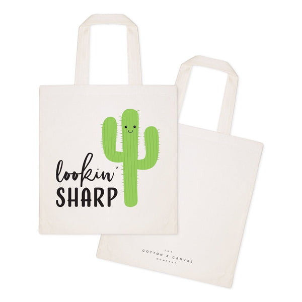 Lookin' Sharp! Cotton Canvas Tote Bag - Jade & Harlow