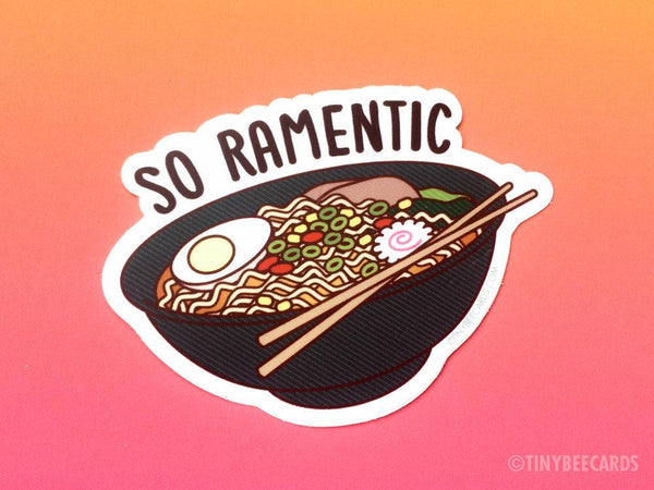 "Ramen Vinyl Sticker ""So Ramentic"" - Jade & Harlow"
