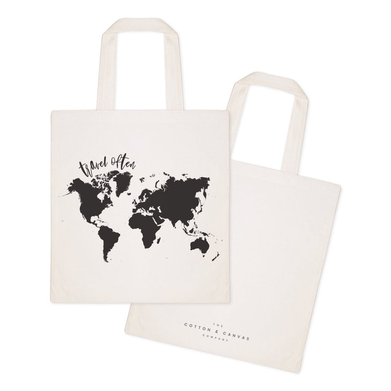 Travel Often Cotton Canvas Tote Bag - Jade & Harlow