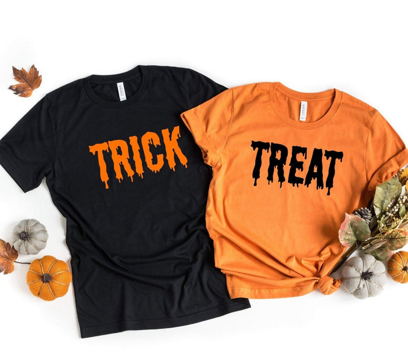 Trick or Treat Couples Shirt / Matching Couples Costume Tees - Jade & Harlow