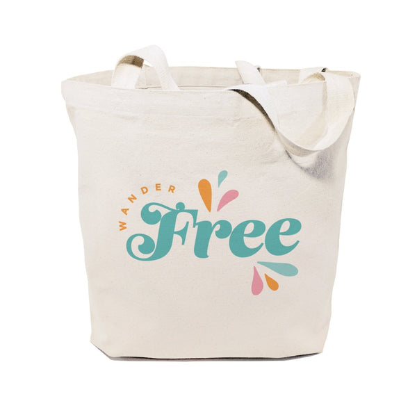 Wander Free Cotton Canvas Tote Bag - Jade & Harlow