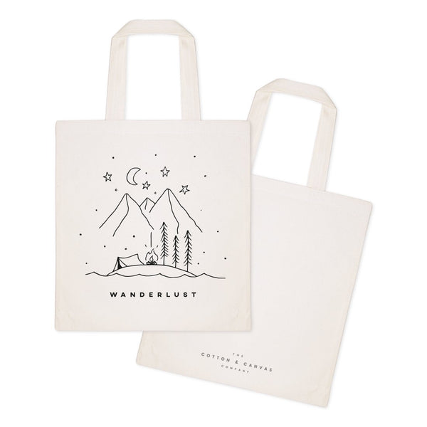 Wanderlust Cotton Canvas Tote Bag - Jade & Harlow