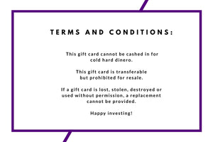 The Secret Investor Gift Card