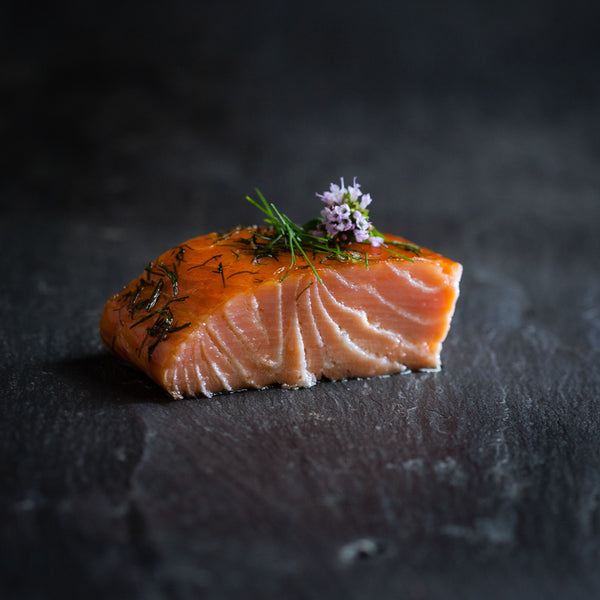 Burren Hot Smoked Irish Organic Salmon with Honey, Lemon & Dill