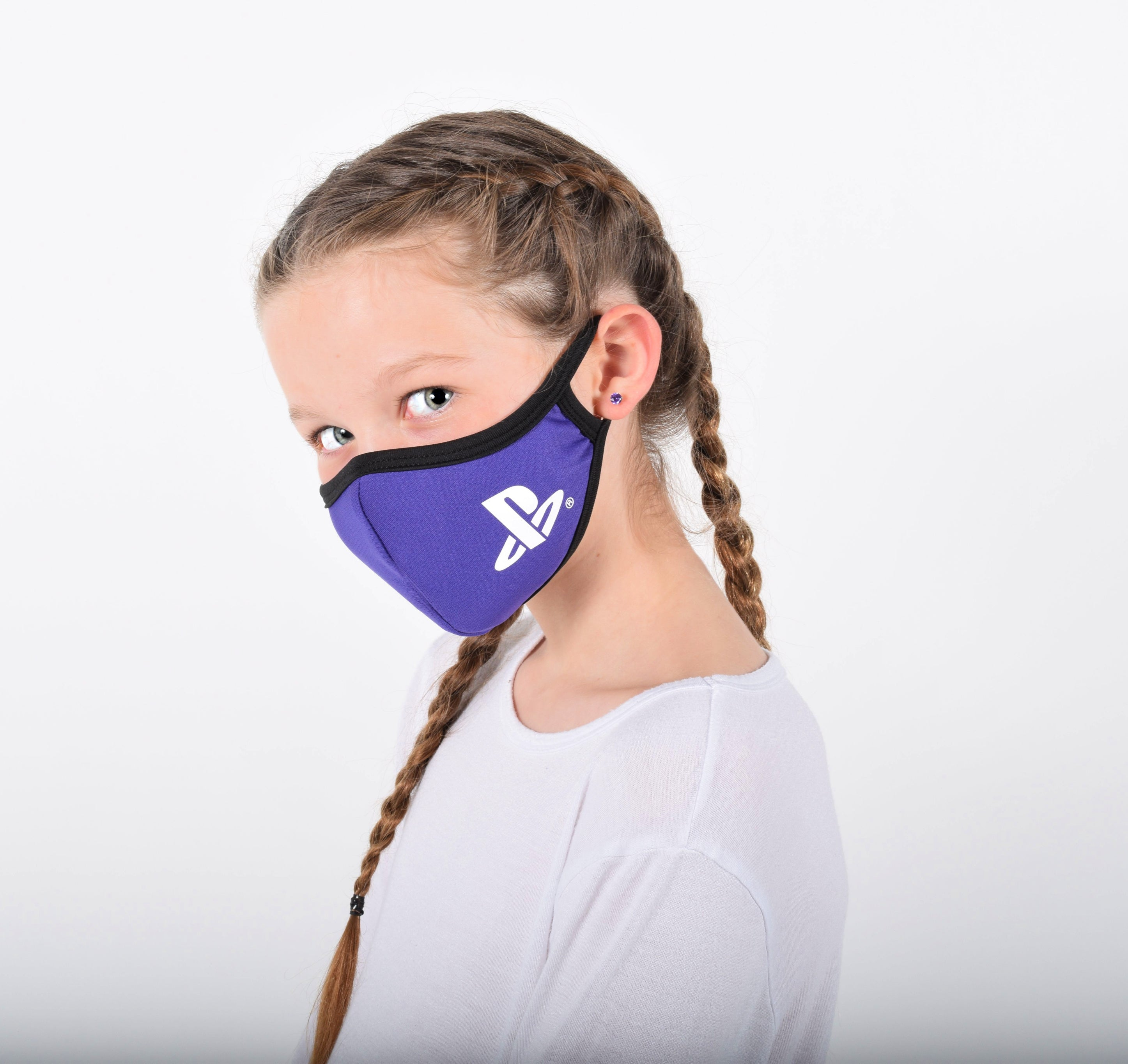 Girls Purple Face Mask with Sleeve for Filter Of Your Choice Such as N95