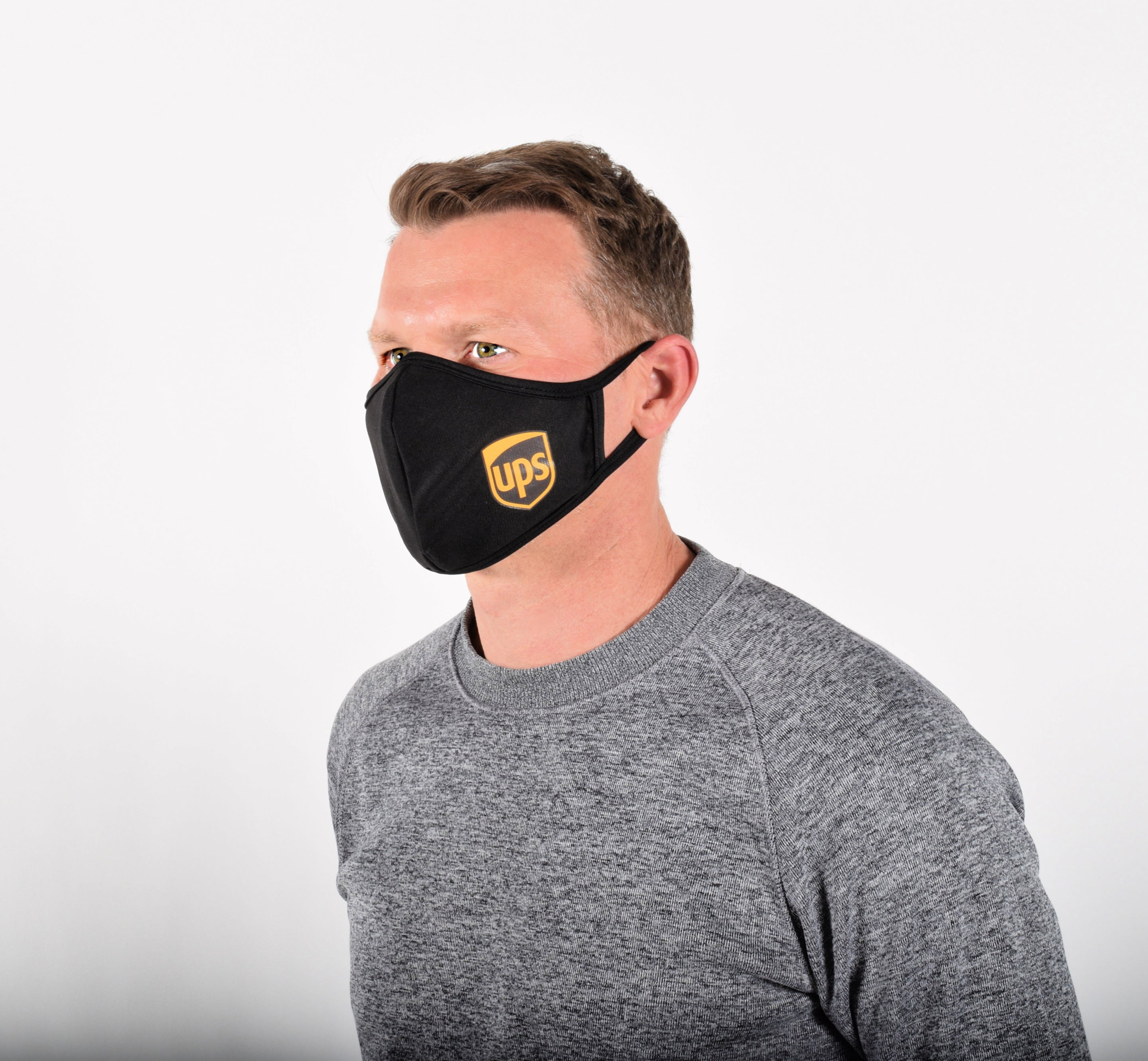 Mens Face Masks For Essential Workers,  Logistics or Delivery with Sleeve for Filter Of Your Choice Such as N95