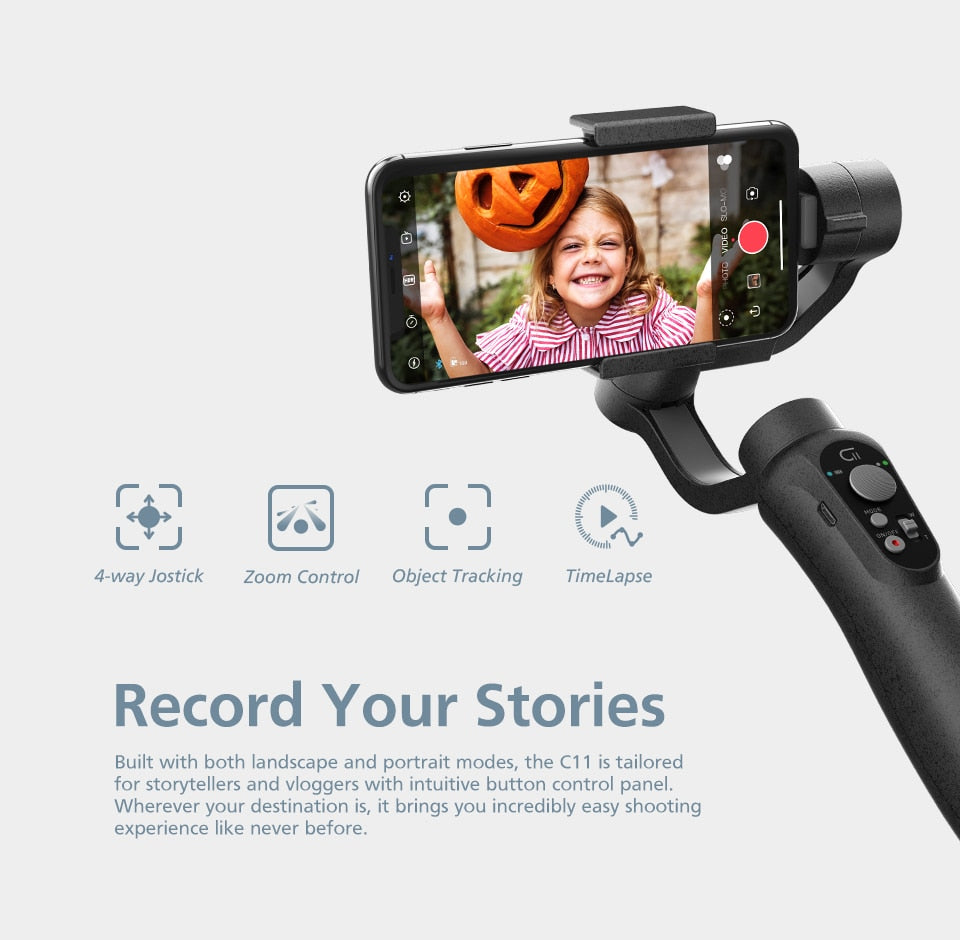 3-Axis Phone Gimbal Handheld Stabilizers - Shop Mongo