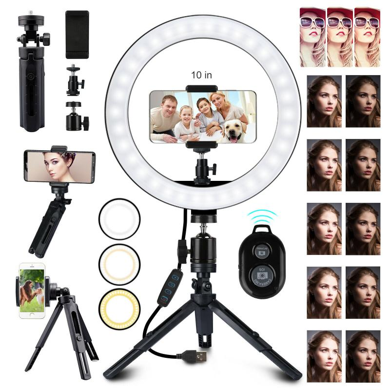 10 Inch Bluetooth Remote Control Selfie Light - Shop Mongo