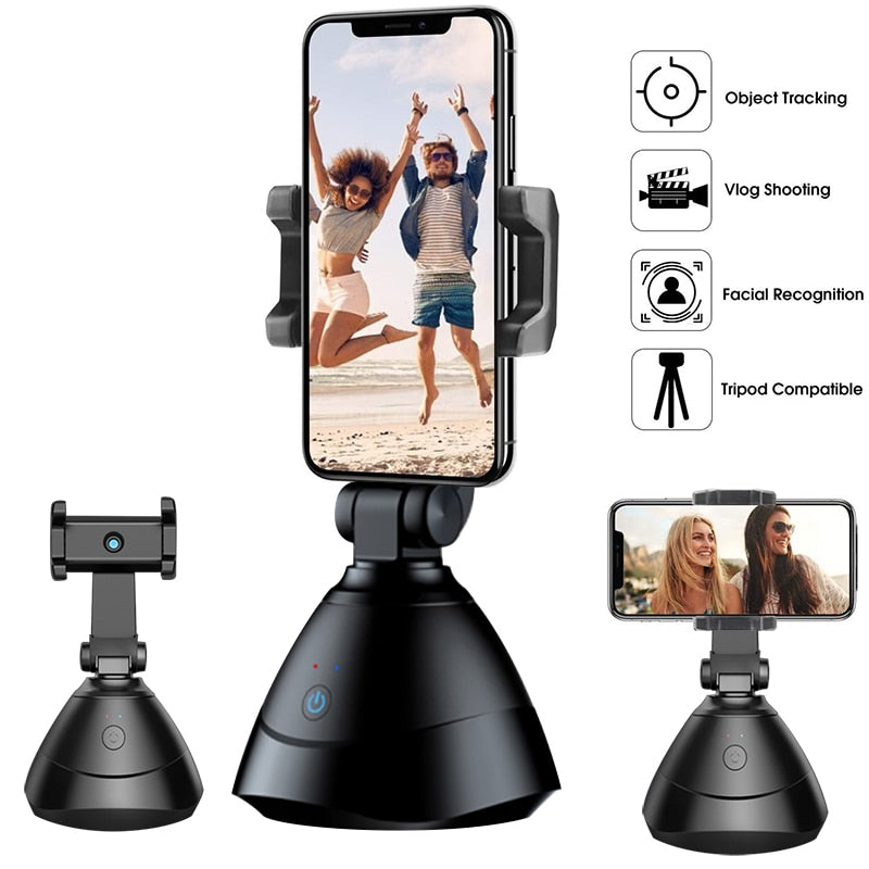 Auto Smart Shooting Selfie Stick 360° Rotation Auto Face Tracking Device Object Tracking Vlog Camera Smart Phone Holder - Shop Mongo