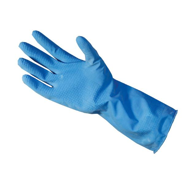 682 - Flock Premium Reusable Rubber Hand Gloves (Blue ) - 1pc