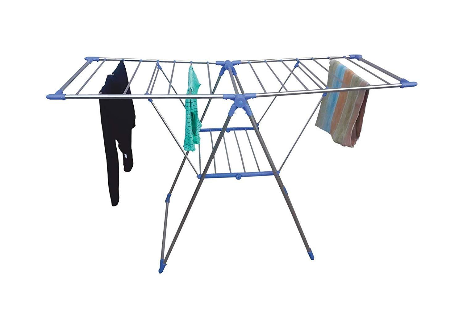 731 Adjustable Stainless Steel 2-Wings Foldable Butterfly Cloth Drying Stand/Rack