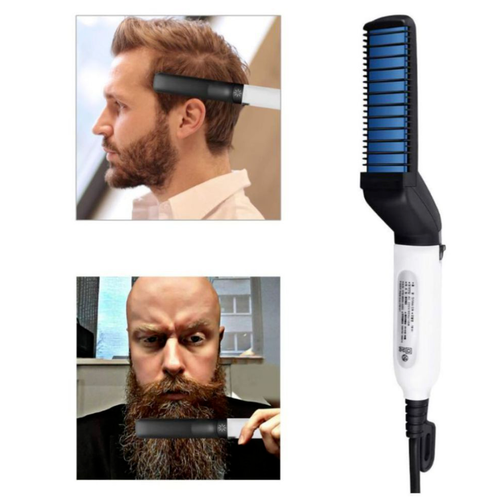 Men's Beard and Hair Curling Straightener (Modelling Comb)