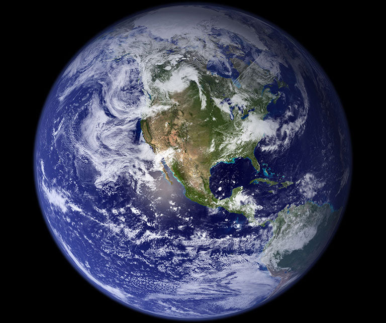 NASA image Earth from space