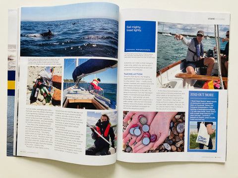 Clean Sailors in Coast magazine