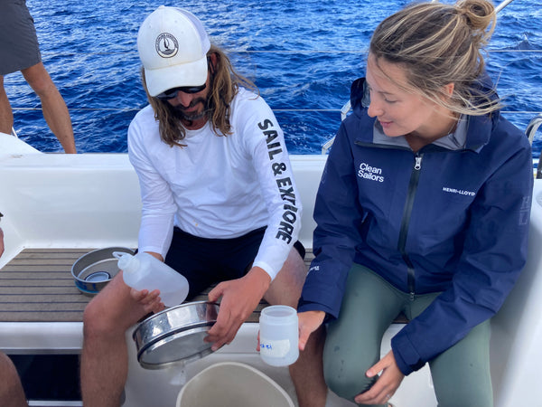 Clean Sailors microplastics research with Sail and Explore Association