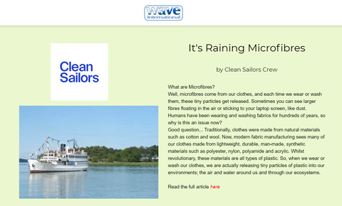 Clean Sailors on microfibres