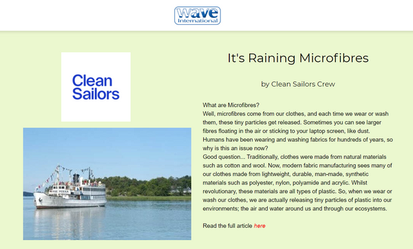 Clean Sailors featured on Wave International