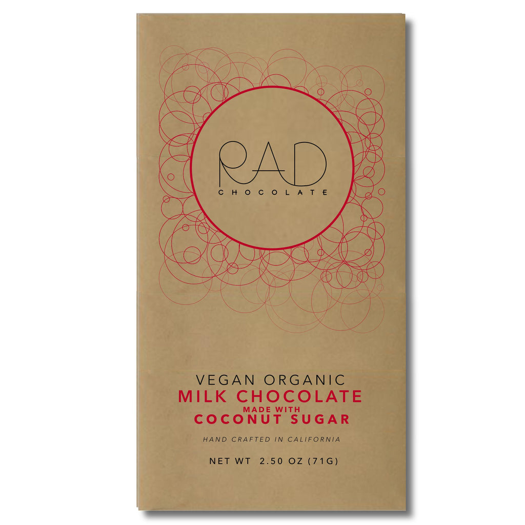 Organic Vegan Milk Chocolate Coconut Sugar - Rad Chocolate