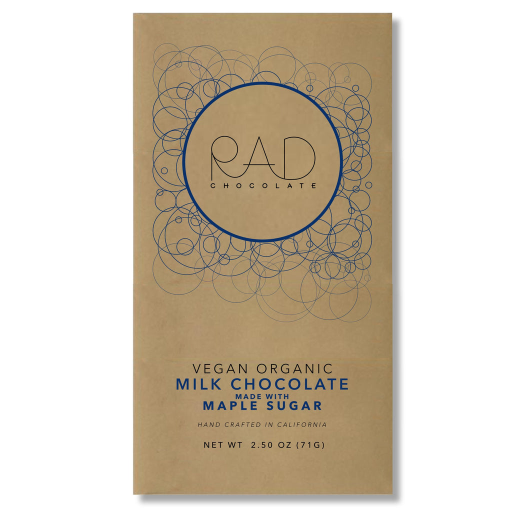 Organic Vegan Milk Chocolate Maple Sugar - Rad Chocolate