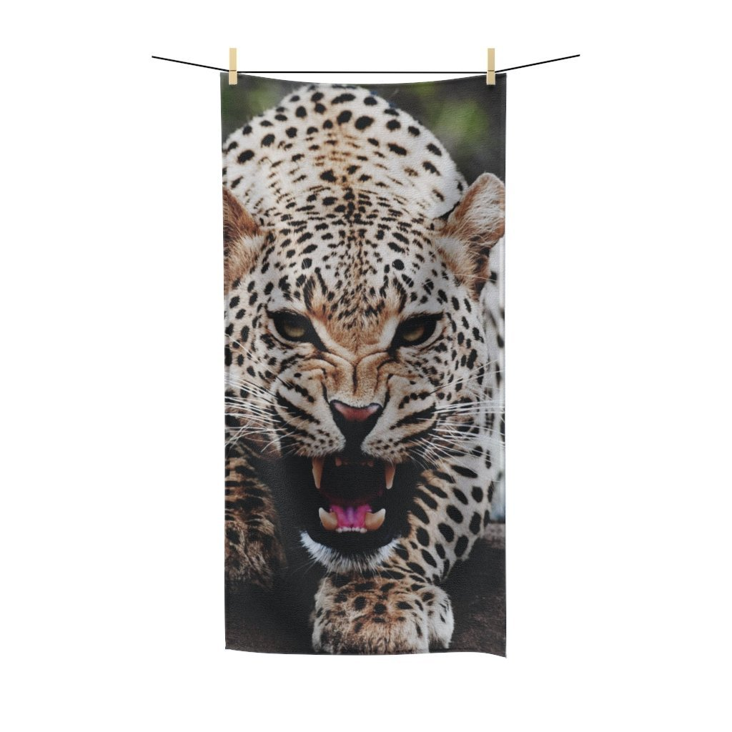 🐆 Big Cat Poly Cotton Towel - Kinky'z Collectionz