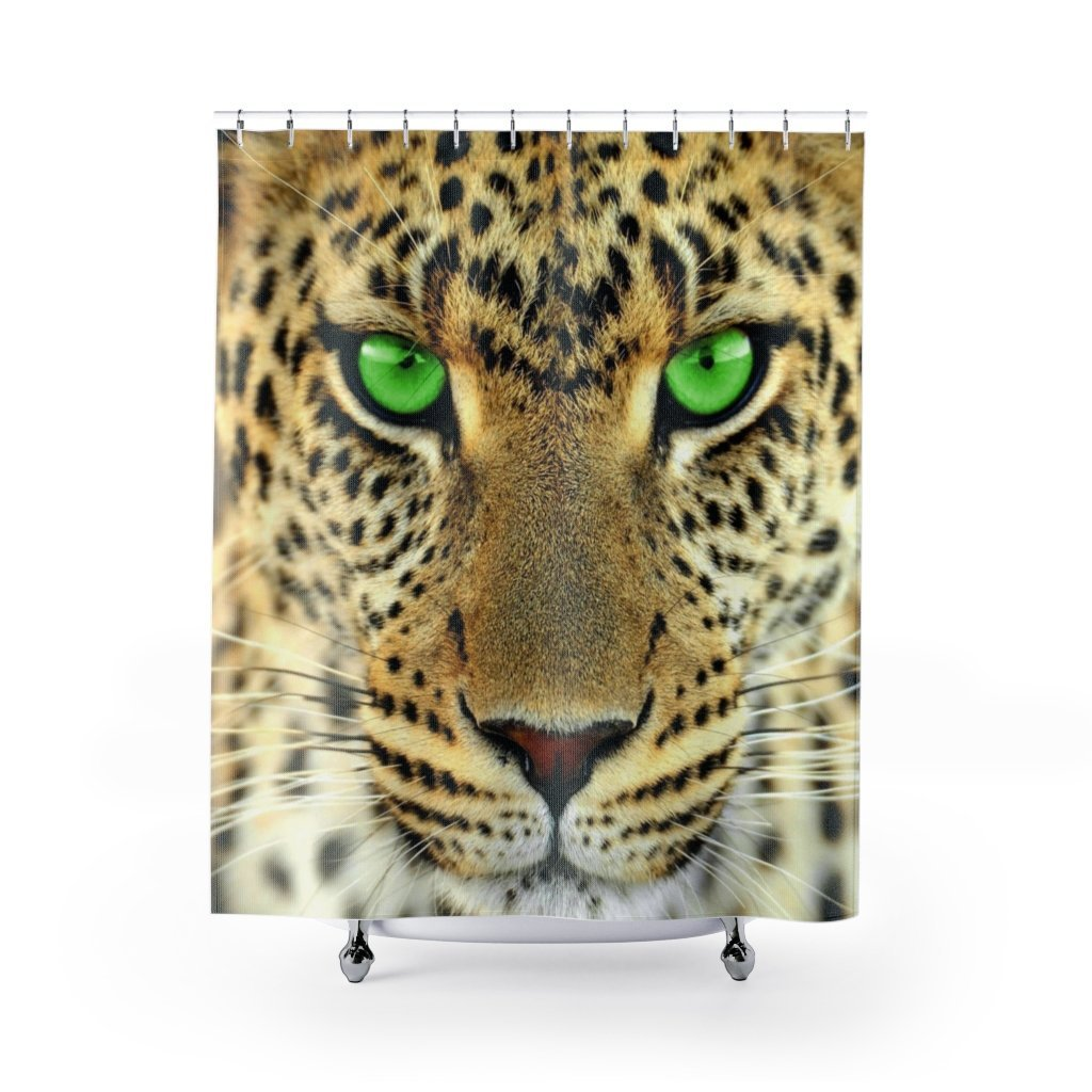 🐆 Big Cat Shower Curtain - Kinky'z Collectionz