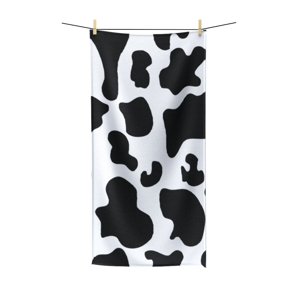 🐄 Cow Poly Cotton Towel - Kinky'z Collectionz