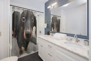 Dachshund 2 Shower Curtains - Kinky'z Collectionz