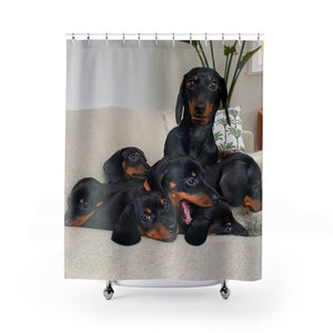Dachshund Shower Curtains - Kinky'z Collectionz