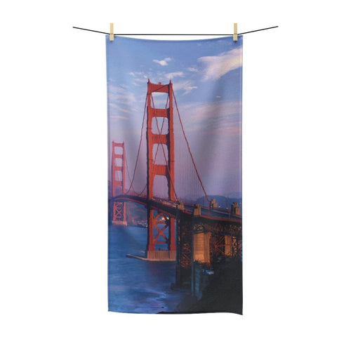 🌁 Golden Gate Bridge Poly Cotton Towel - Kinky'z Collectionz