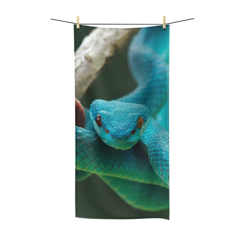 🐍 Green Tree Python Poly Cotton Towel - Kinky'z Collectionz