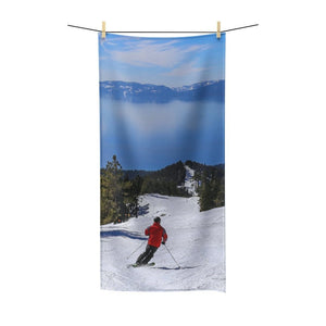 Lake Tahoe Skier Poly Cotton Towel - Kinky'z Collectionz