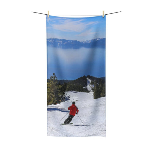 ⛷️ Lake Tahoe Skier Poly Cotton Towel ⛷️ - Kinky'z Collectionz
