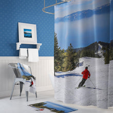 Load image into Gallery viewer, ⛷️ Lake Tahoe Skier Shower Curtain - Kinky'z Collectionz
