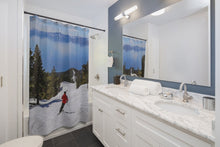 Load image into Gallery viewer, ⛷️ Lake Tahoe Skier Shower Curtain ⛷️ - Kinky'z Collectionz
