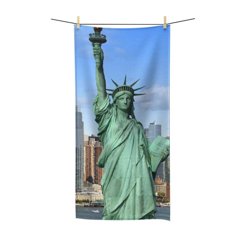 🗽 New York City Skyline Poly Cotton Towel - Kinky'z Collectionz