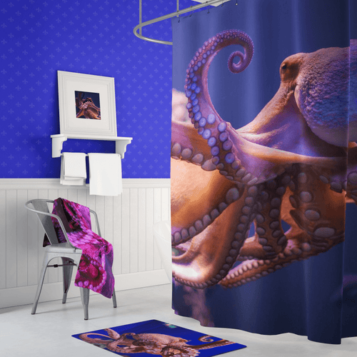 🐙 Octopus Shower Curtain - Kinky'z Collectionz