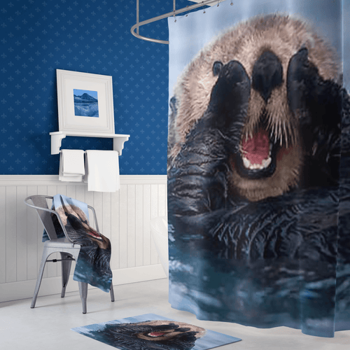 🦦 Sea Otter Shower Curtain - Kinky'z Collectionz