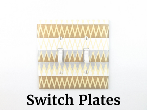 Our Silver and Gold Switch Plate with Double Toggle Switches by The Orange Chair Studio