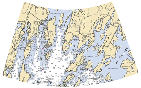 Nautical Chart Night Light - Maine
