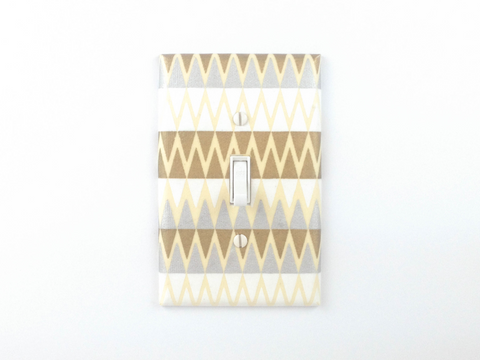 Silver and Gold Switch Plates - Single Toggle