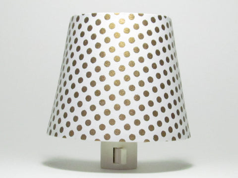 Gold Polka Dot Night Light