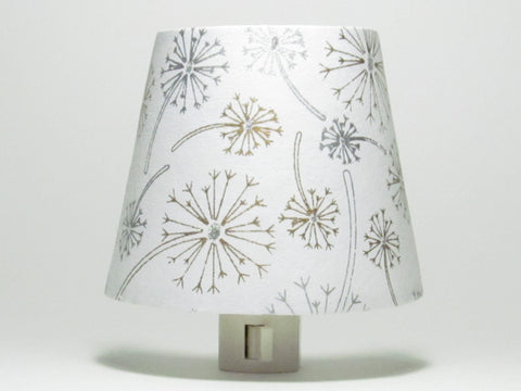 Silver and Gold Dandelion Night Light