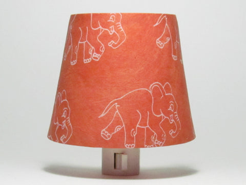 Orange Elephant Night Light