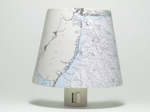 New Jersey Nautical Chart Night Light