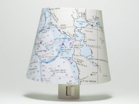 San Francisco Nautical Chart Night Light