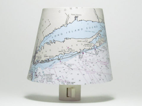 New York Nautical Chart Night Light