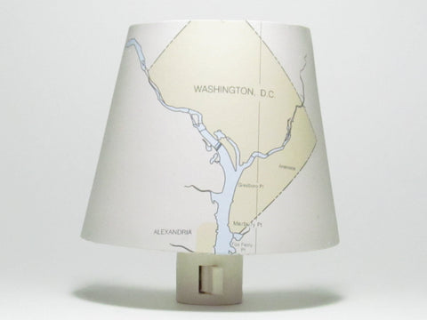 Washington DC Nautical Chart Night Light
