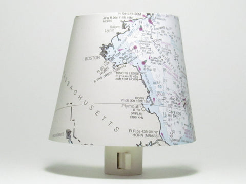 Boston Nautical Chart Night Light