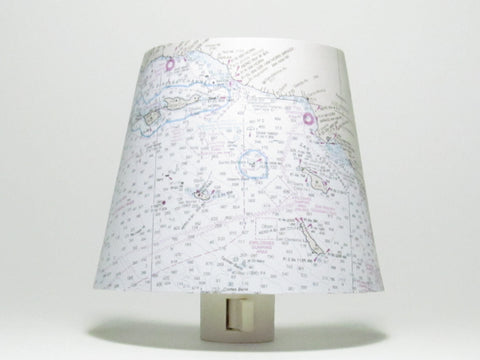 Los Angeles Nautical Chart Night Light