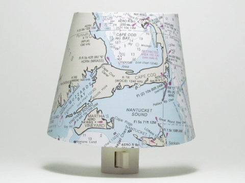 Cape Cod Nautical Chart Night Light